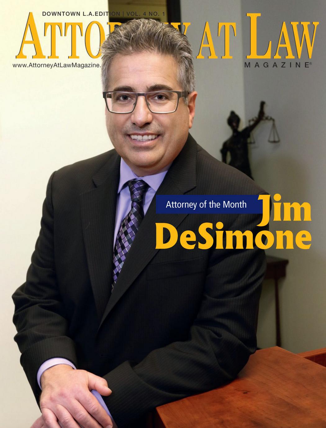 Attorney DeSimone Attorney at Law magazine